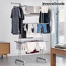 InnovaGoods Wäschespinne mit Rollen
