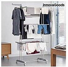 InnovaGoods Wäscheständer, Grau, Maße ca. : 75
