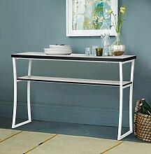 innovareds Home Beistelltisch 2Ebenen Regal Konsole Tisch einfach modern Style hellgrau