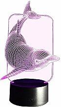 InnoWill Delphin Deko LED Nachtlichter Meerestiere Serie (Delphin2)