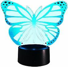 InnoWill LED Nachtlichter Schmetterling Dekoration 7Colors