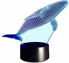 InnoWill Wal Dekoration LED Nachtlichter Meerestiere Serie (Wal4)