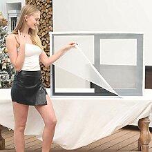 INOBXR Insektenschutz Fenster Meterware Weiß,