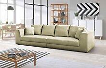 INOSIGN Big-Sofa Amiya Struktur, 310 cm beige Big