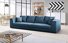INOSIGN Big-Sofa Amiya Struktur, 310 cm blau Big