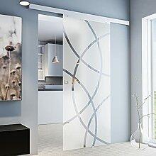 inova Glas-Schiebetür 880 x 2035 mm Kreis Design