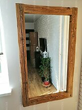 InovaDesign Antiker Wandspiegel aus Massivholz