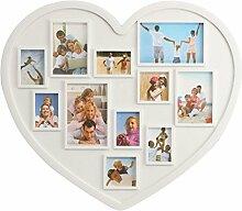 Inovey 11 Bilder Herzform Familie Bilderrahmen Halter Wandbehang Bild Dekoration