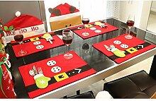 Inovey Weihnachtsmann Esstisch Tischmatte