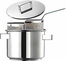 inoxriv Set Pasta Duetto Design Plus, Edelstahl 18/10, Durchmesser cm. 24