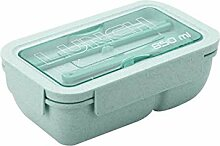 Inroserm Weizenstroh Bento Box, 2 Fächer,