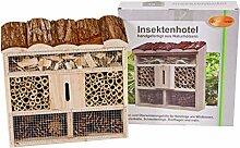 Insektenhotel aus Holz Tanne, Bambus, Tannenzapfen
