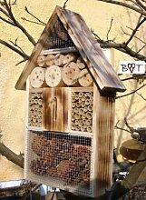 Insektenhotel geflammt gebrannt schwarz natur Gartendeko Nistkasten Gartendeko als Ergänzung zum Meisen Nistkasten Meisenkasten oder zum Vogelhaus Vogelfutterhaus Futterstation für Vögel, als umweltfreundliches Mittel gegen Blattläuse, ideal für die Beobachtung von Insekten Schmetterlingen Marienkäfer usw. biologische Blattlausbekämpfung, ein toller Insektenkasten - Insektenhaus - Schmetterlingskasten - Marienkäferkasten - Schmetterlingshaus - Gartendeko - Gartendekoration