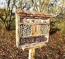 insektenhotel, mit Holzrinde-Naturdach, FDV-OS