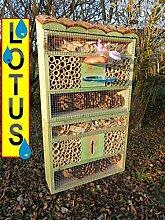 Insektenhotel mit Ständer Einbeinständer + LOTUS