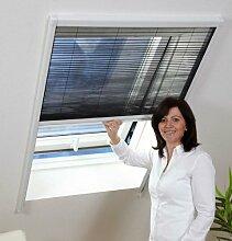 Insektenschutz Dachfenster Plissee 110x160cm braun