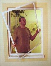 Insektenschutz-Fenster Alu max. 80x100cm weiß