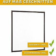 Insektenschutz Fenster Basic 120 x 140 cm mit Alurahmen in Weiß, Braun und Anthrazit, schnelle und problemlose Montage ohne Bohren, Fliegengitter als Bausatz, auf Maß geschnitten oder komplett aufgebau