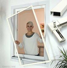 Insektenschutz Fenster Comfort mit Feder-Haken Größe 100x130cm, Farbe anthrazi