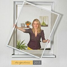 Insektenschutz Fenster Fliegengitter 120x140cm 3er Set braun
