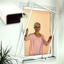 Insektenschutz Fenster Fliegengitter Comfort 100 x 150 cm weiß 223