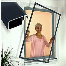 Insektenschutz Fenster Fliegengitter Comfort 120 x150 cm anthrazitgrau 250