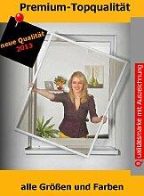 Insektenschutz Fenster Fliegengitter Fliegenschutzfenster BRAUN 4er Set bis 130 x 150 cm Montagevideo