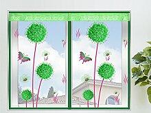 Insektenschutz Fenster Loewenzahn Fliegengitter Fenster mit Magnetverschluss Gruen,100*150