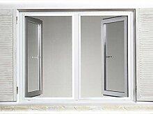 Insektenschutz Fenster mit Alu-Rahmen, weiß, 130x150
