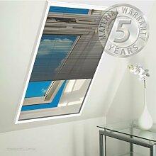 Insektenschutz Fenster Plissee - 113x160cm anthrazi