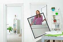 Insektenschutz Fliegengitter Fenster flächenbündig flächenversetzte Fenster kürzbar 100 x 120cm