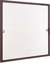 Insektenschutz Fliegengitter Fenster Spannrahmen Braun 75x75 cm (Breite X Höhe) RAL 8017