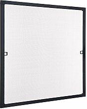 Insektenschutz Fliegengitter Fenster Spannrahmen Schwarz 130x150 cm (Breite X Höhe) RAL 9011