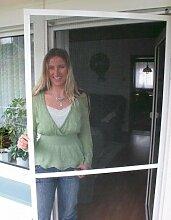 Insektenschutz Fliegengitter Tür 100 x 210 cm mit Alurahmen hochwertiges Material Profi-Qualität Fliegengitter für Türen Farben weiß u. braun (braun)