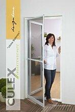 Insektenschutz Fliegengitter Tür Alurahmen PROFI QUALITÄT SLIM IN XL NEU, 120 x 240 cm, ohne Bohren, Farbe braun