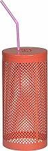Insektenschutz für Trinkglas 4er Set Metall Ø10x15cm (rot)