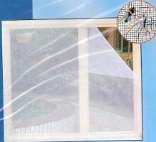 Insektenschutz-Gitter/Fliegengitter für Fenster, weiß, 130 x 150 cm