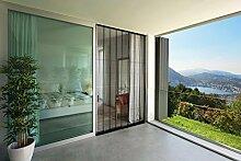 Insektenschutz Lamellenvorhang Doppelschiebetür Türvorhang Polyester 200 x 220 cm