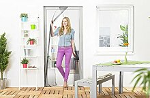 Insektenschutz Lamellenvorhang für Türen Türvorhang Polyester 120 x 210 cm