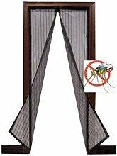 Insektenschutz Magnetic 130x 230cm Drehverschluss-Modi schwarz