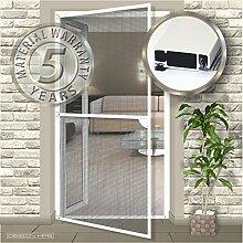 Insektenschutz Tür Profi 100x215cm weiß Größe 120x240cm, Farbe weiß