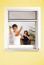 Insektenschutzgitter ALU Rollo für Fenster Insektenschutz Mückengitter Fliegengitter 130x160cm braun