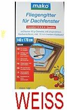 Insektenschutzgitter Dachfenster inkl. Klettband 140x170 cm weiss