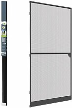 Insektenschutztür Alu Fliegengitter Tür 100 x 215cm Rahmenfarbe grau