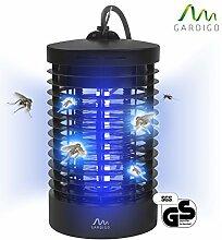 Insektenvernichter geruchsneutral ohne Chemie UV-Lampe mit Hochspannungsgitter Wirkungsbereich 25m² Lichtfalle für Fluginsekten Anti Mücken Leuchte
