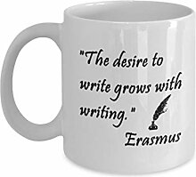 Inspirational Writing Quote Erasmus Neuheit