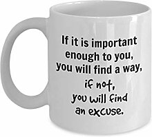 Inspirierende Kaffeetasse, Geschenkidee für