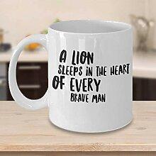 Inspirierende Kaffeetasse Löwe Kaffeetasse Löwe