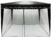INSTENT Moskitonetz, für 3 x 3 Pavillon, schwarz