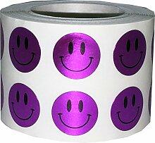 Instocklabels.Com 1,27 cm runde Smiley-Aufkleber